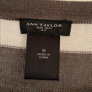 Ann Taylor Factory Tops - Ann Taylor Factory Striped Side Button Top, M